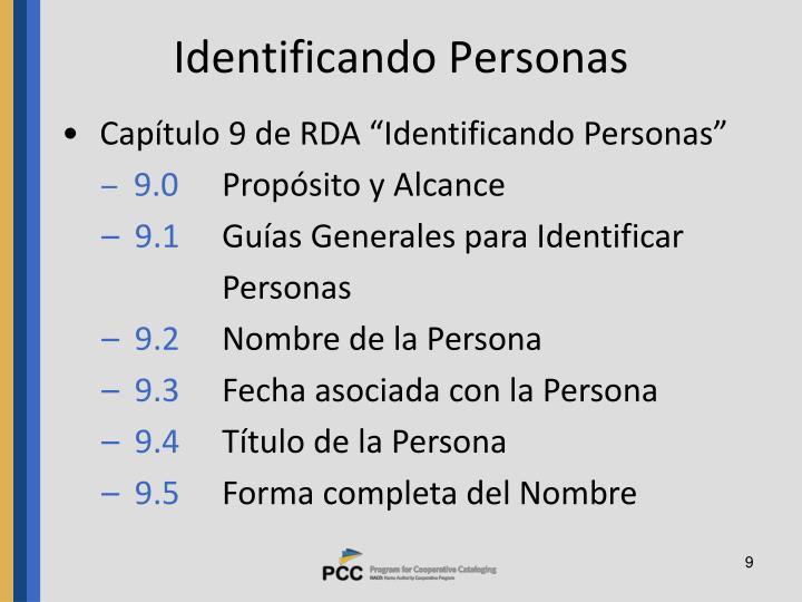 Identificando Personas