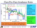 flare pre flare irradiance ratio