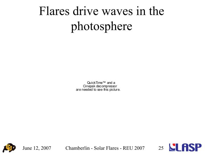 Flares drive waves in the photosphere