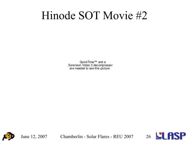 Hinode SOT Movie #2