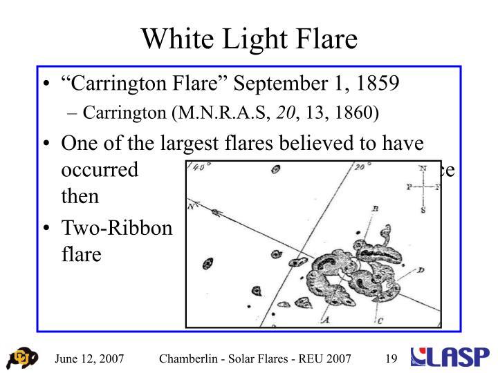 White Light Flare