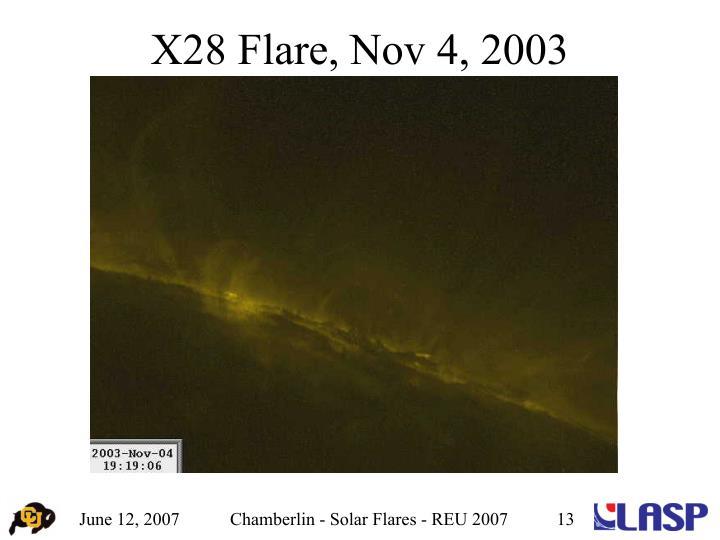 X28 Flare, Nov 4, 2003