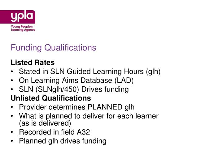 Funding Qualifications