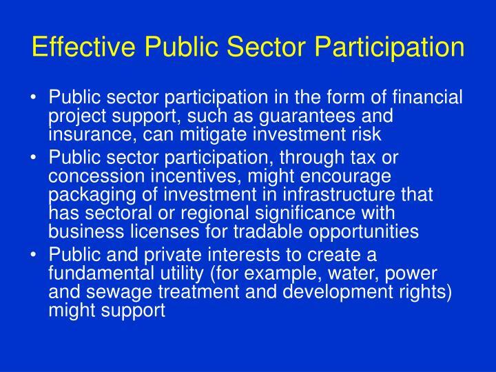Effective Public Sector Participation