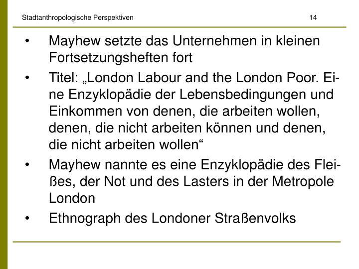 Stadtanthropologische Perspektiven