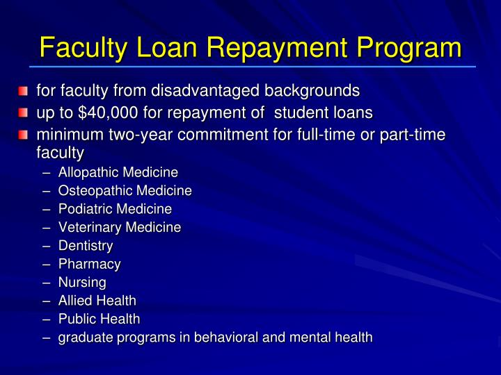 Faculty Loan Repayment Program