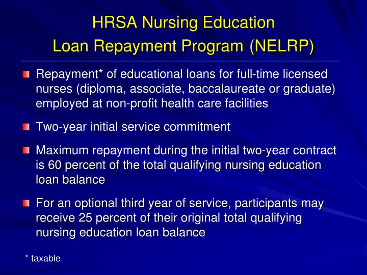 HRSA Nursing Education