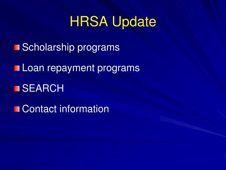 HRSA Update