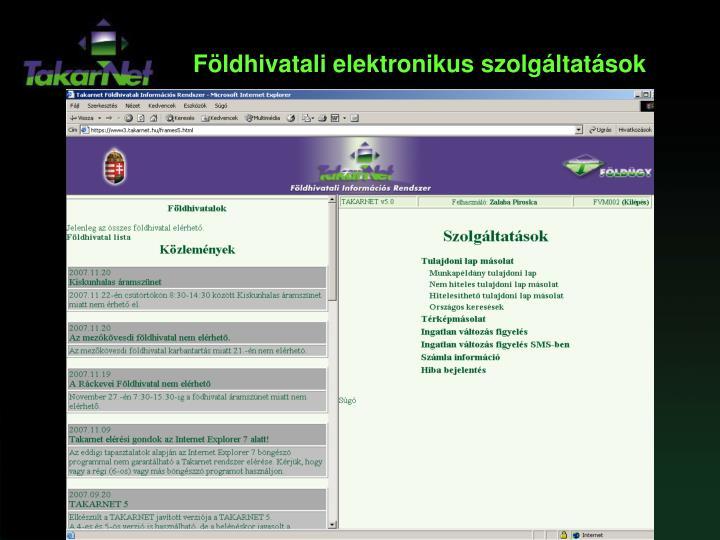 Földhivatali elektronikus szolgáltatások