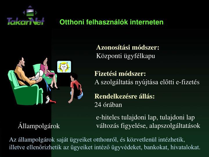 Otthoni felhasználók interneten