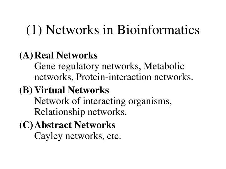 (1) Networks in Bioinformatics