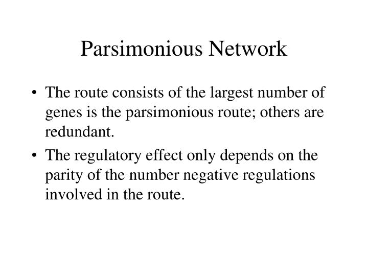 Parsimonious Network