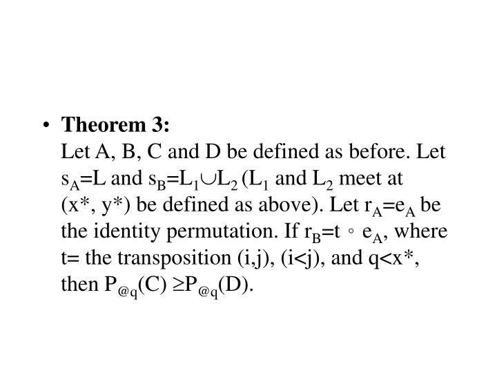 Theorem 3: