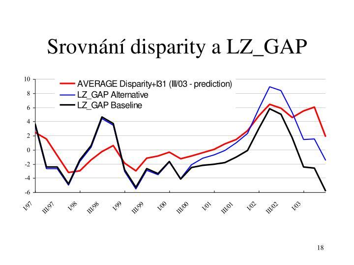 Srovnání disparity a LZ