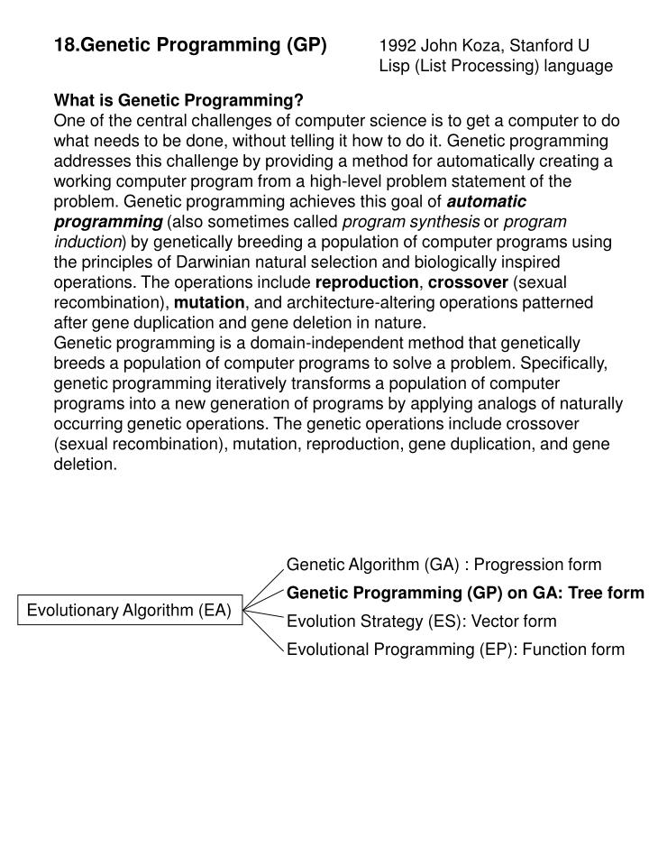 18.Genetic Programming (GP)