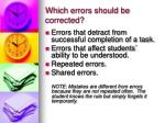 which errors should be corrected