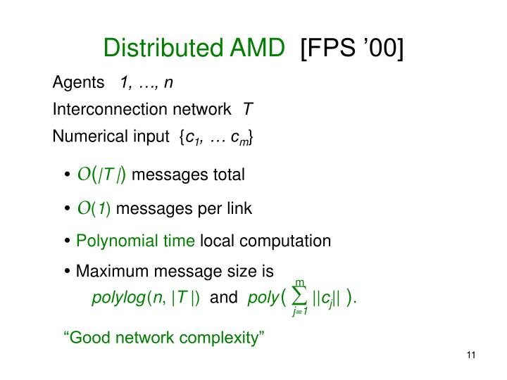 Distributed AMD