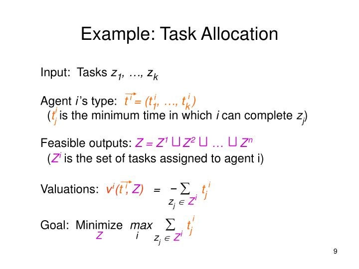 Example: Task Allocation