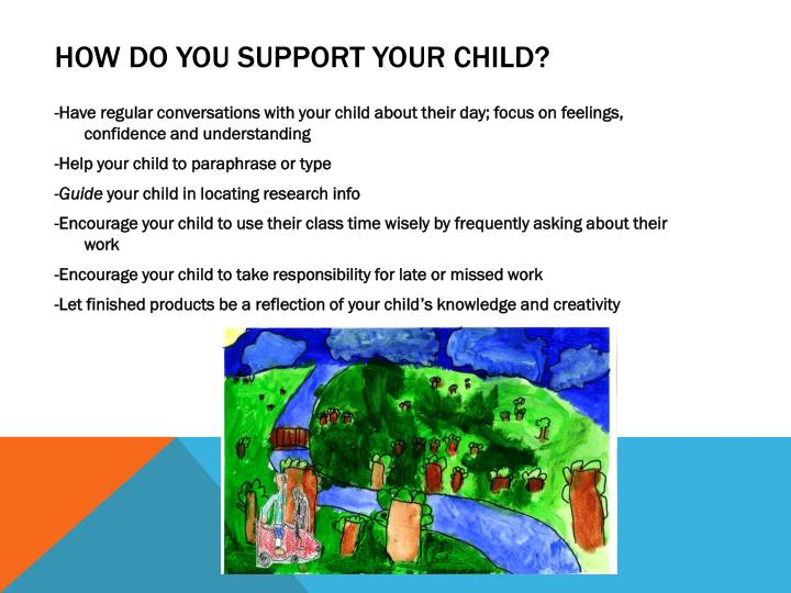 How do you support your child?