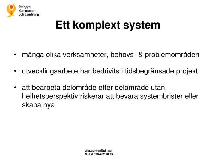 Ett komplext system