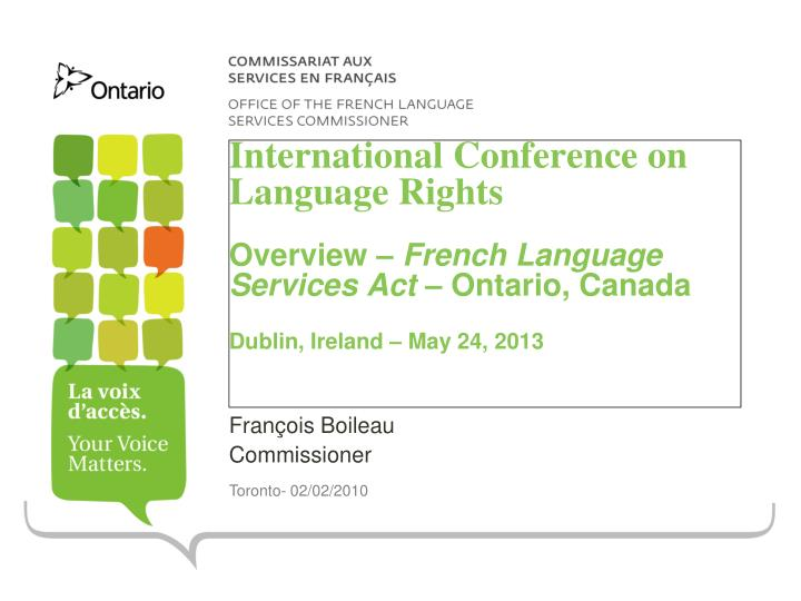 International Conference on Language Rights