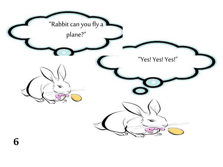 """Rabbit can you fly a plane?"""
