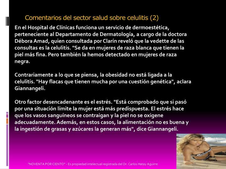 Comentarios del sector salud sobre celulitis (2)