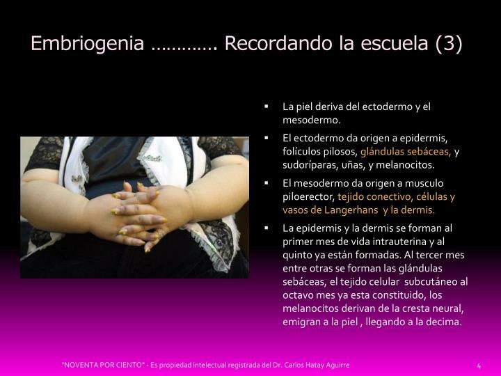 Embriogenia …………. Recordando la escuela (3)