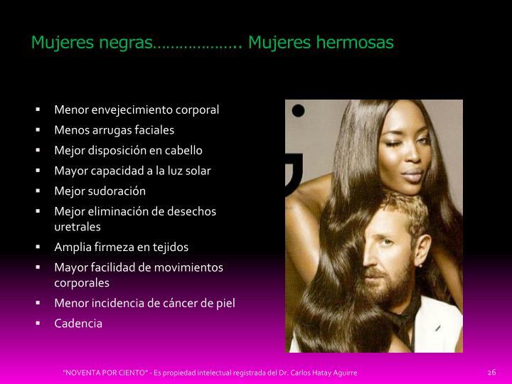 Mujeres negras……………….. Mujeres hermosas
