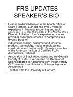 ifrs updates speaker s bio