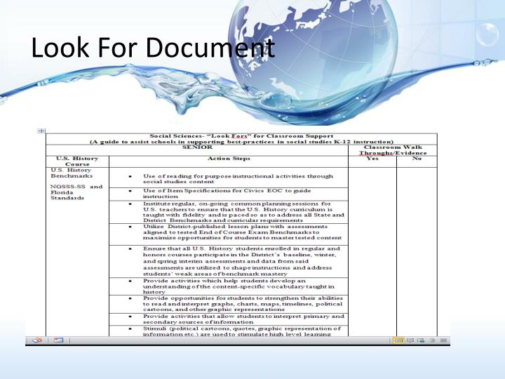 Look For Document