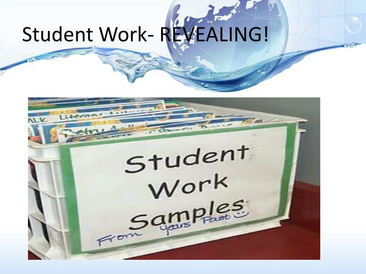 Student Work- REVEALING!