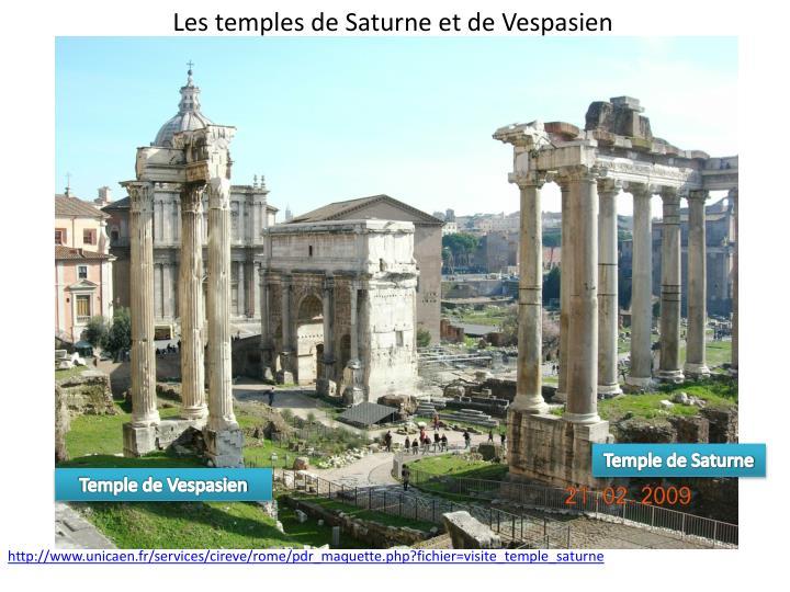 Les temples de Saturne et de Vespasien