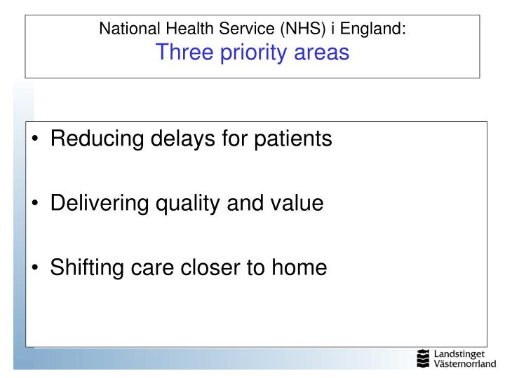 Reducing delays for patients