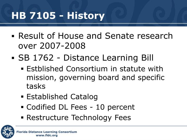 HB 7105 - History