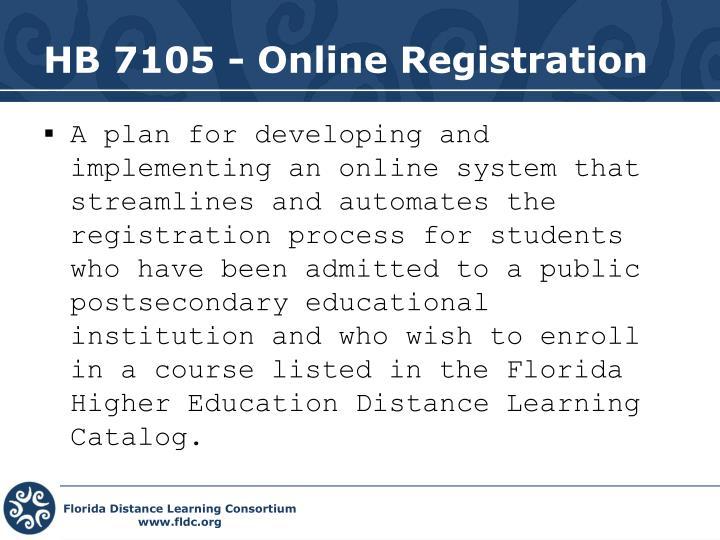 HB 7105 - Online Registration