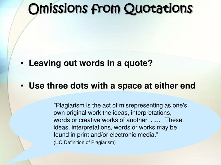 Omissions from Quotations