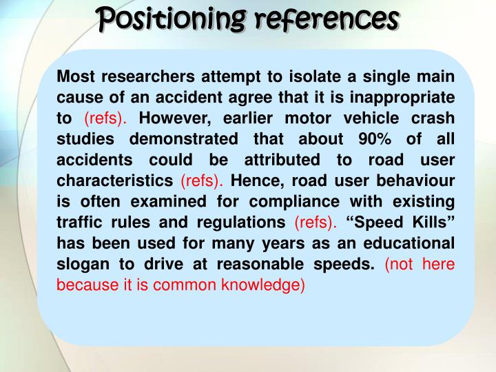 Positioning references