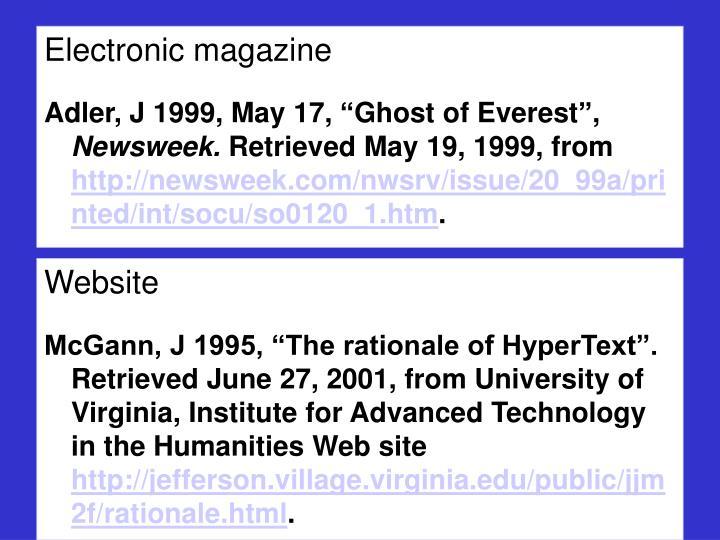 Electronic magazine
