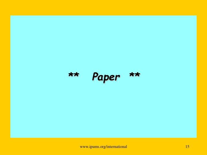 **   Paper  **