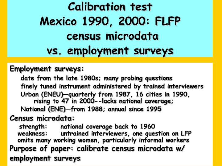 Calibration test