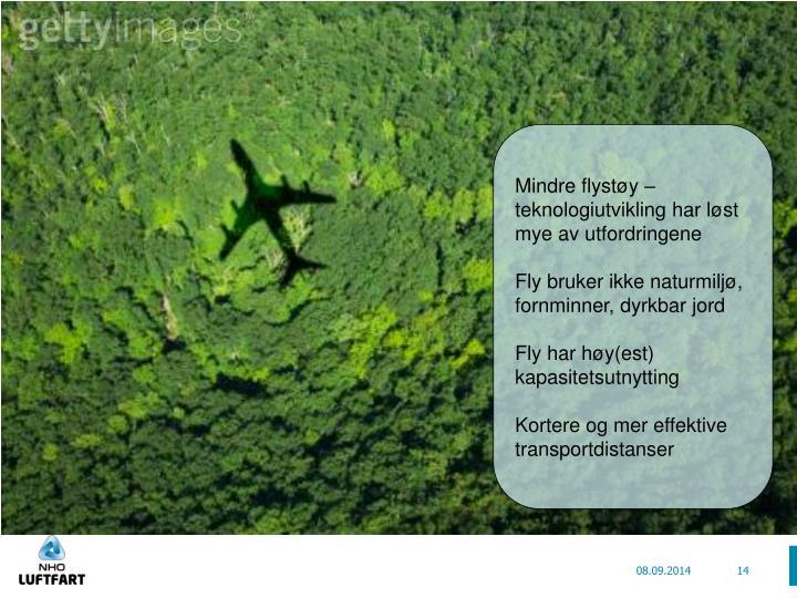 Mindre flystøy – teknologiutvikling har løst mye av utfordringene