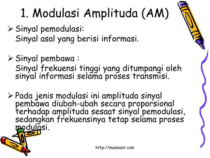 1. Modulasi Amplituda (AM)