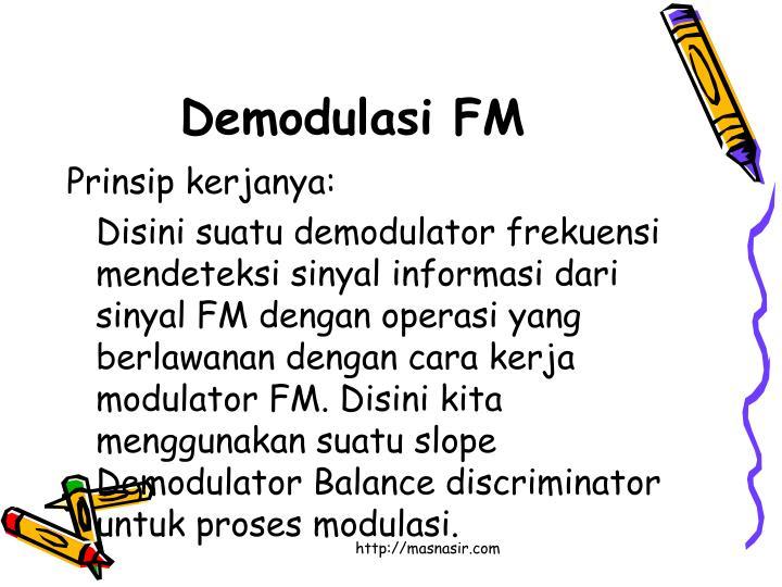 Demodulasi FM
