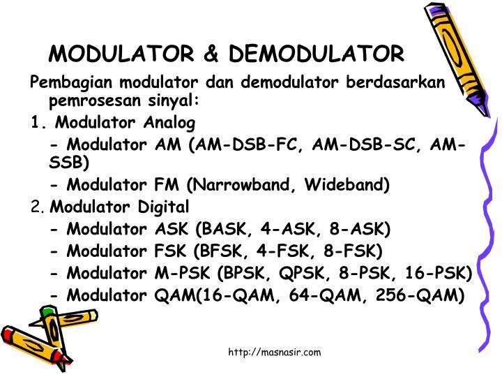 MODULATOR & DEMODULATOR