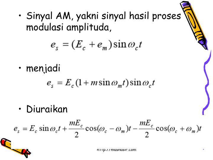Sinyal AM, yakni sinyal hasil proses modulasi amplituda,