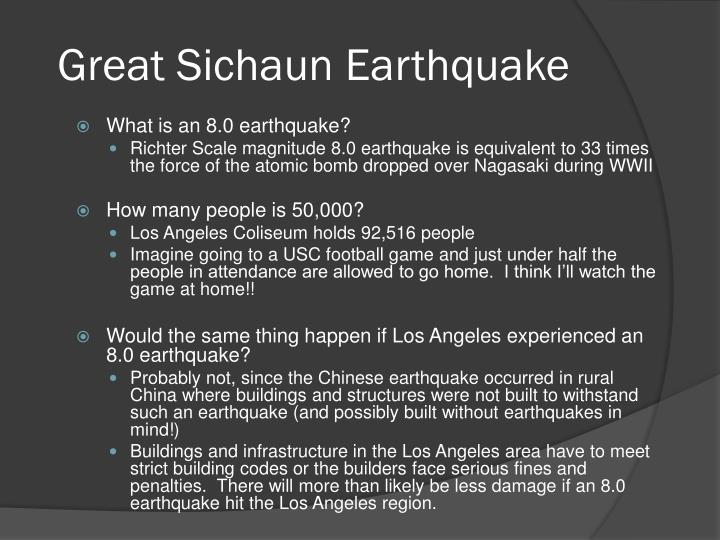 Great Sichaun Earthquake