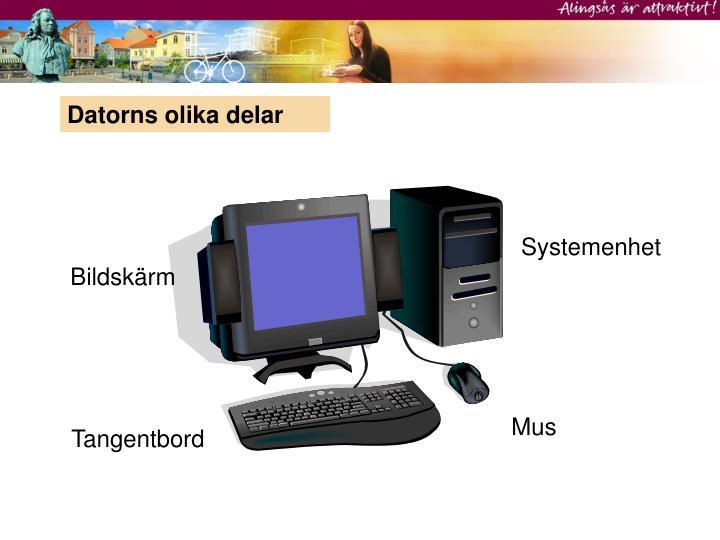 Datorns olika delar