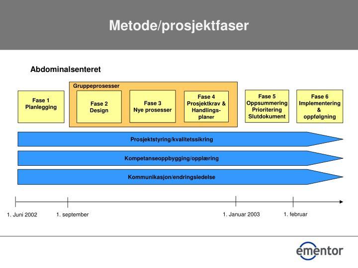 Metode/prosjektfaser