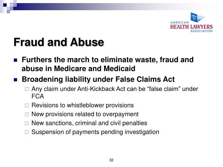 Fraud and Abuse